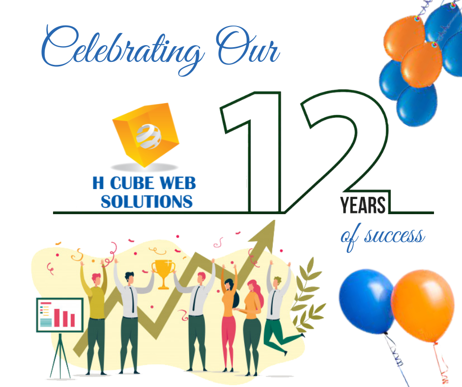 12 years of H Cube Web Solutions